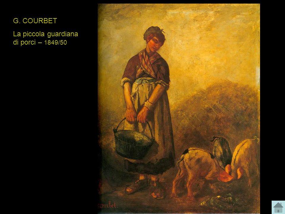 G. COURBET La piccola guardiana di porci – 1849/50
