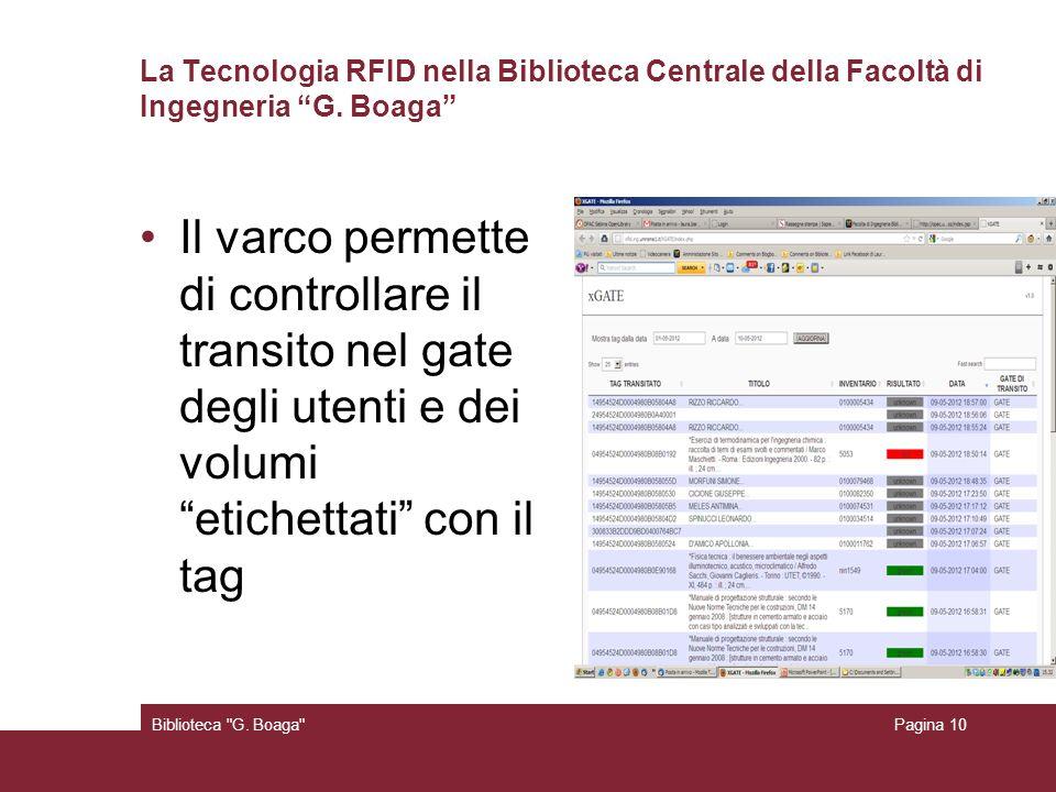 La Tecnologia RFID nella Biblioteca Centrale della Facoltà di Ingegneria G. Boaga