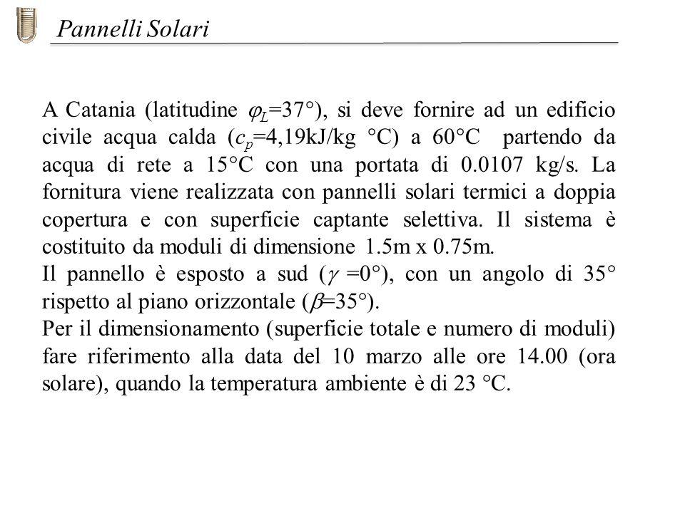 Pannello Solare A Sud Ovest : Università di roma tor vergata ppt scaricare