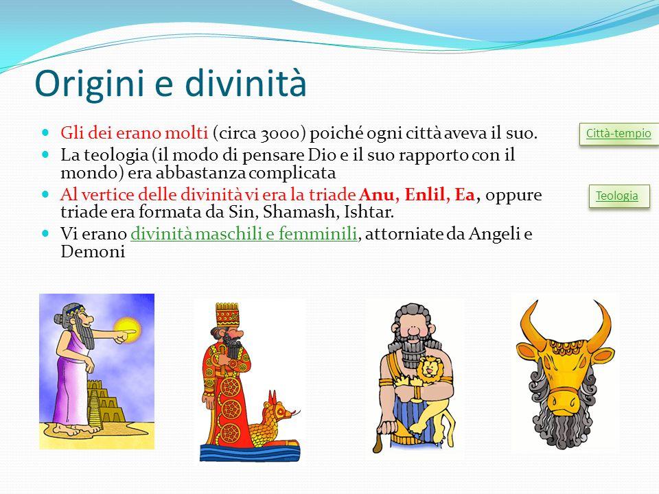 Origini e divinità Gli dei erano molti (circa 3000) poiché ogni città aveva il suo.