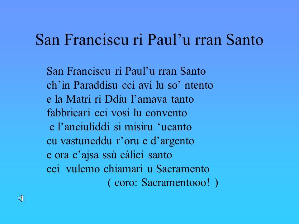 San Franciscu ri Paul'u rran Santo