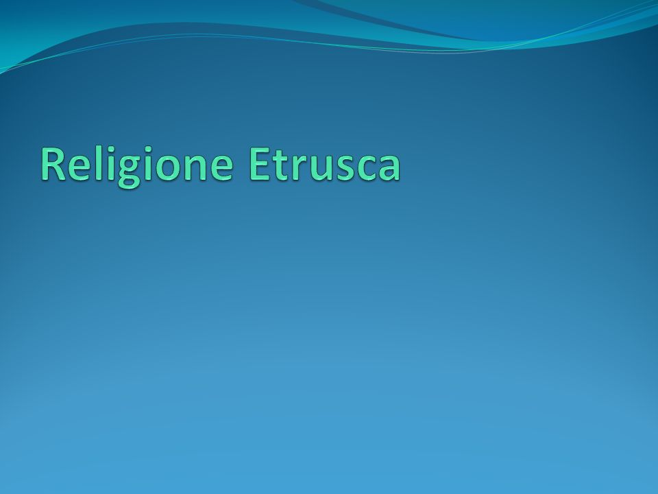Religione Etrusca