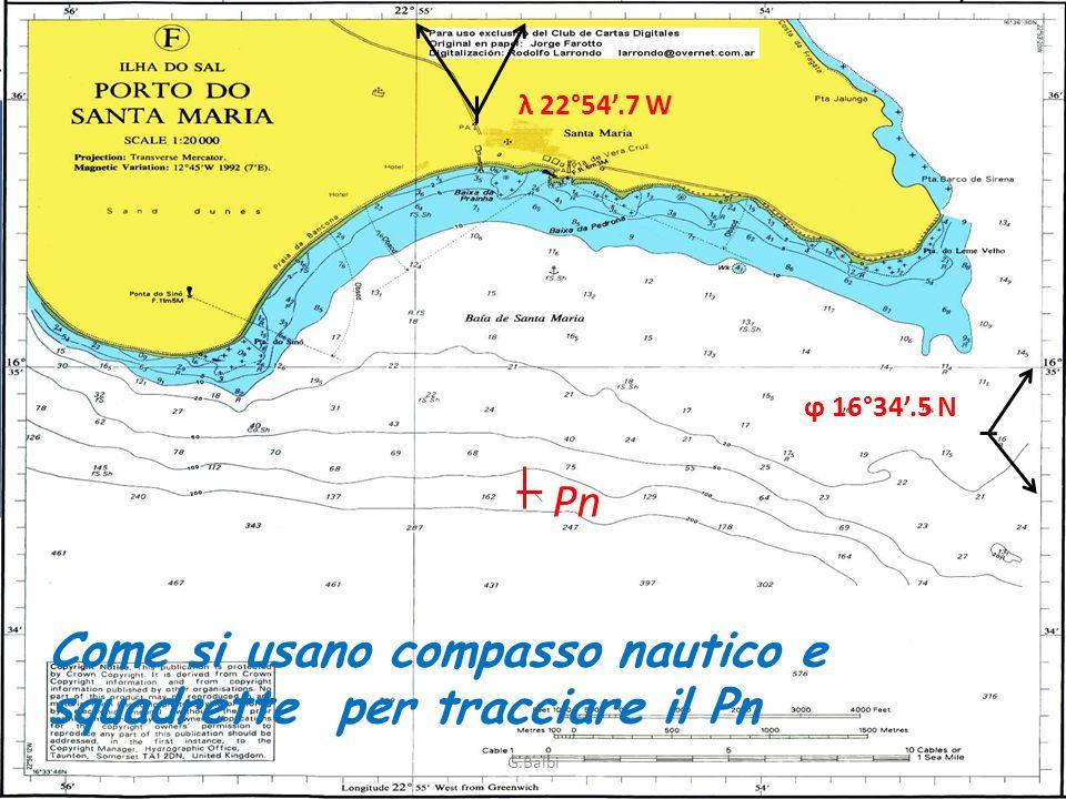 Come si usano compasso nautico e squadrette per tracciare il Pn