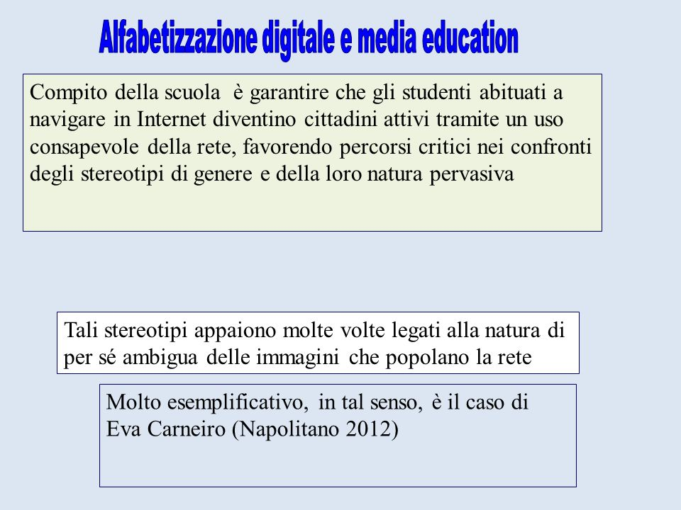 Alfabetizzazione digitale e media education
