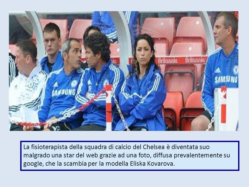 La fisioterapista della squadra di calcio del Chelsea è diventata suo malgrado una star del web grazie ad una foto, diffusa prevalentemente su google, che la scambia per la modella Eliska Kovarova.