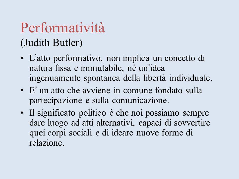 Performatività (Judith Butler)
