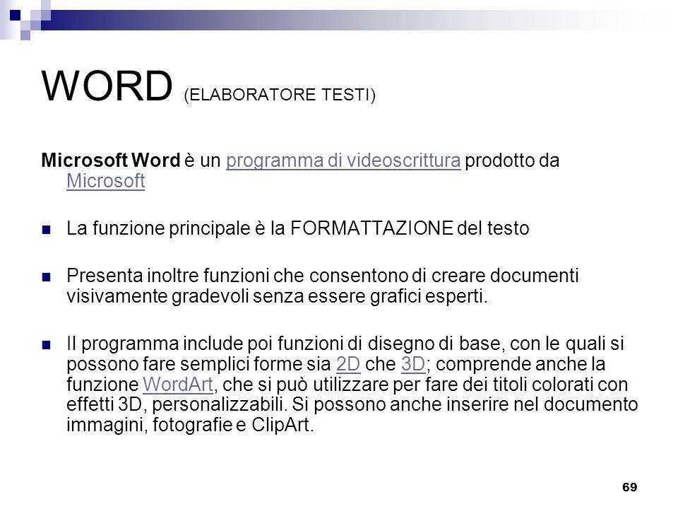 WORD (ELABORATORE TESTI)