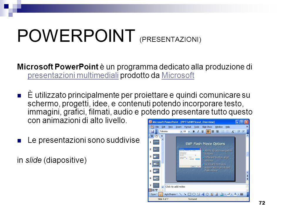 POWERPOINT (PRESENTAZIONI)