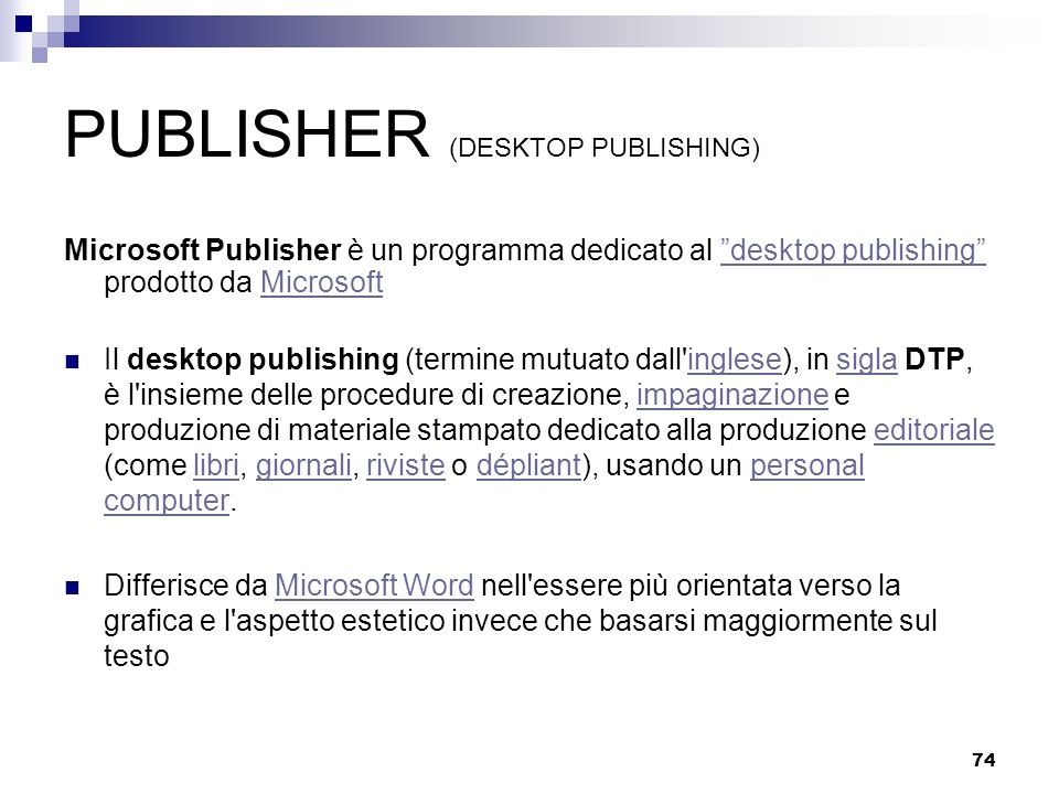 PUBLISHER (DESKTOP PUBLISHING)