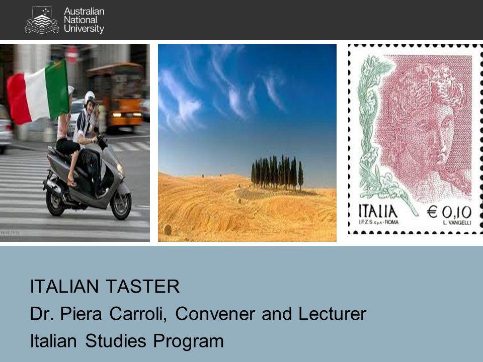 Dr. Piera Carroli, Convener and Lecturer Italian Studies Program