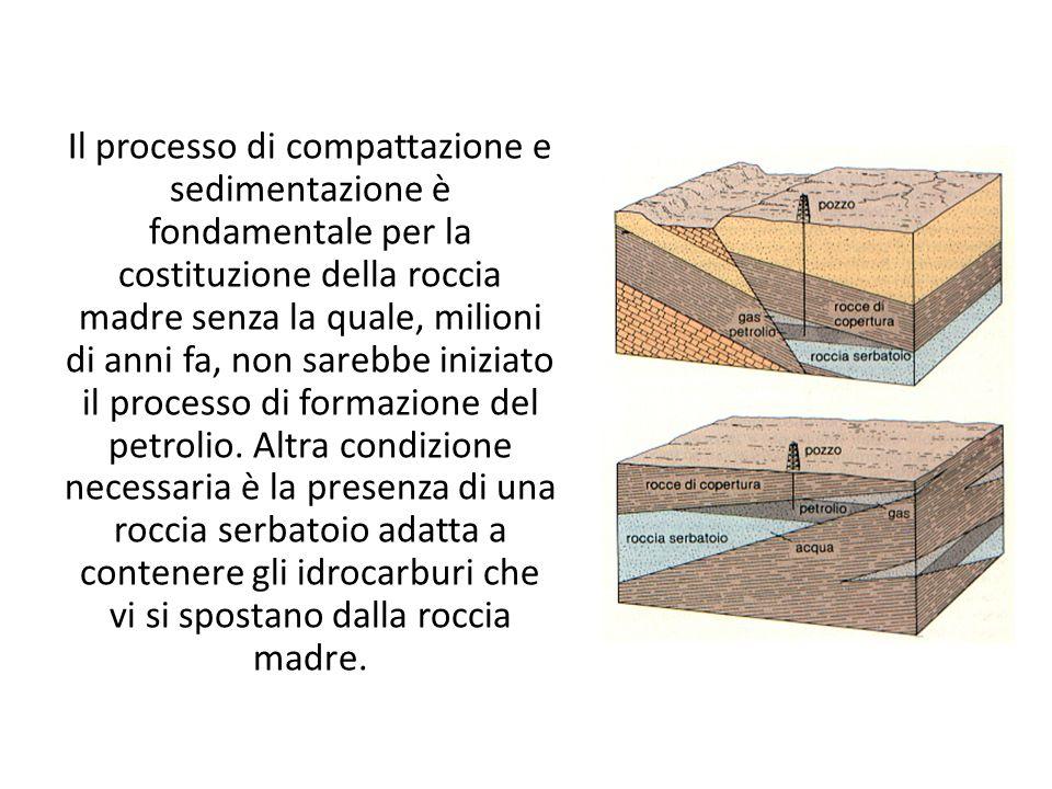 Il processo di compattazione e sedimentazione è fondamentale per la costituzione della roccia madre senza la quale, milioni di anni fa, non sarebbe iniziato il processo di formazione del petrolio.