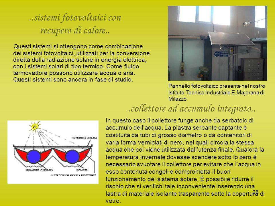 ..sistemi fotovoltaici con recupero di calore..