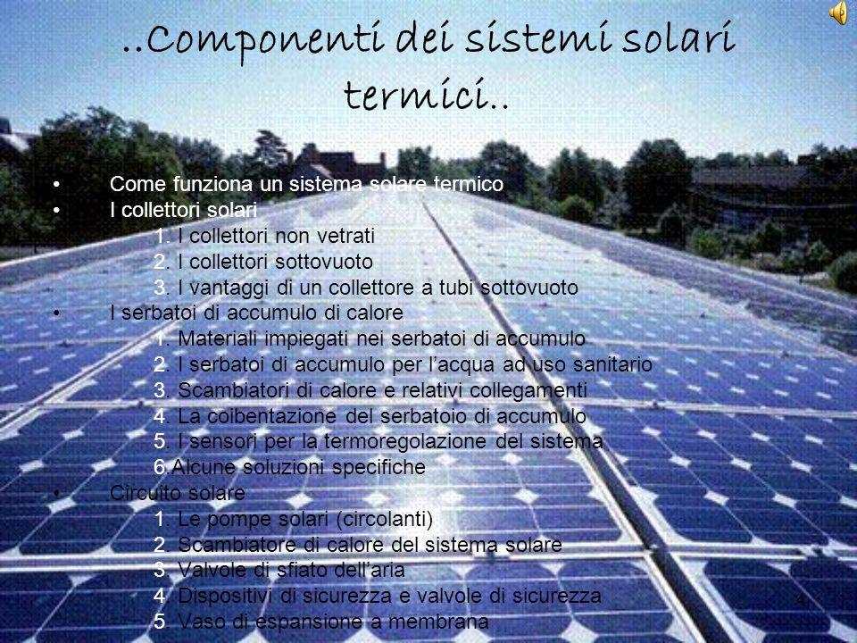 ..Componenti dei sistemi solari termici..