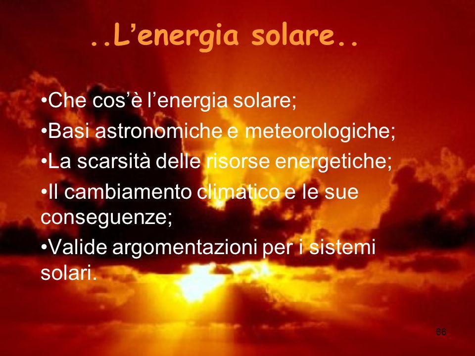 ..L'energia solare.. Che cos'è l'energia solare;
