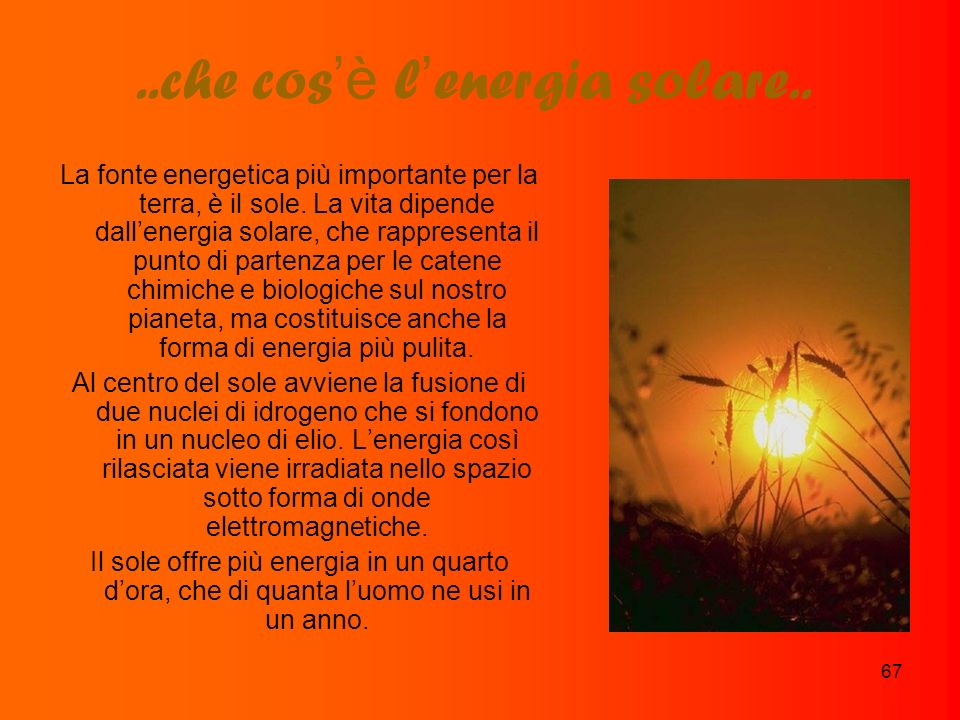..che cos'è l'energia solare..