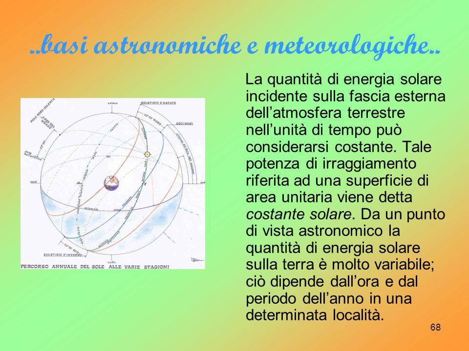 ..basi astronomiche e meteorologiche..