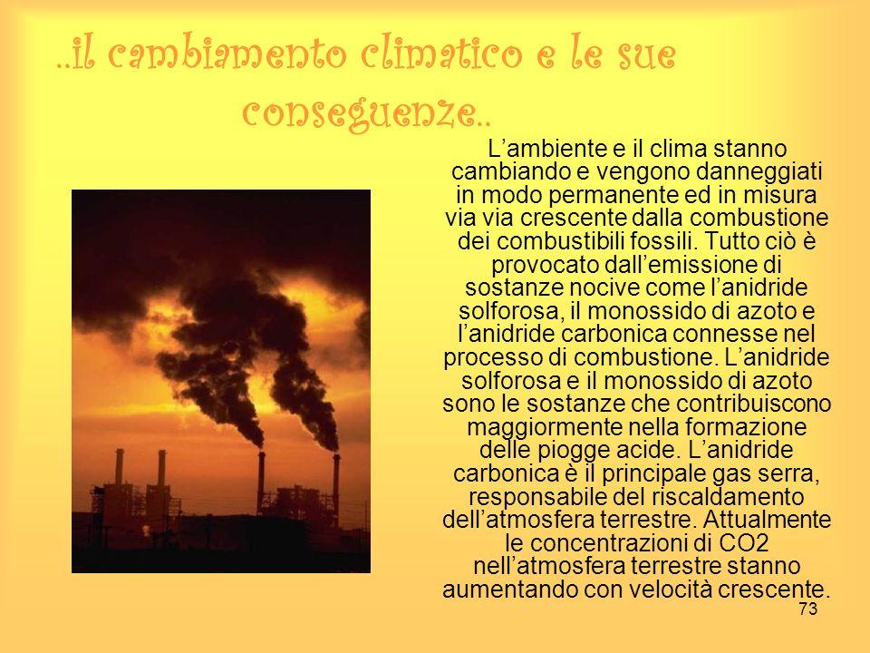 ..il cambiamento climatico e le sue conseguenze..