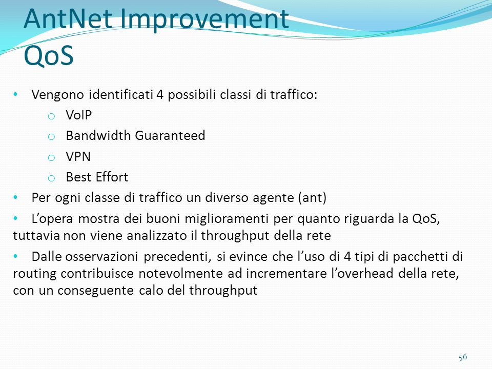 AntNet Improvement QoS