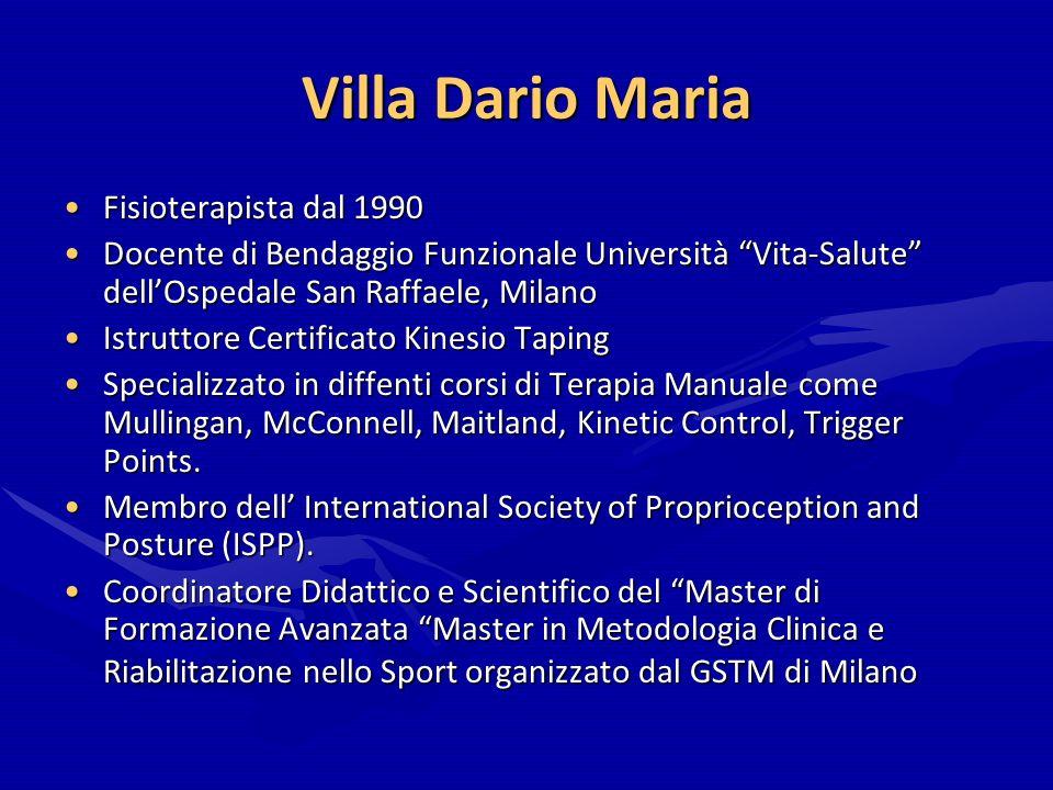Villa Dario Maria Fisioterapista dal 1990