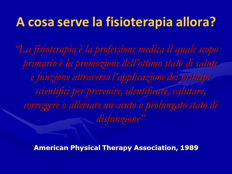 A cosa serve la fisioterapia allora