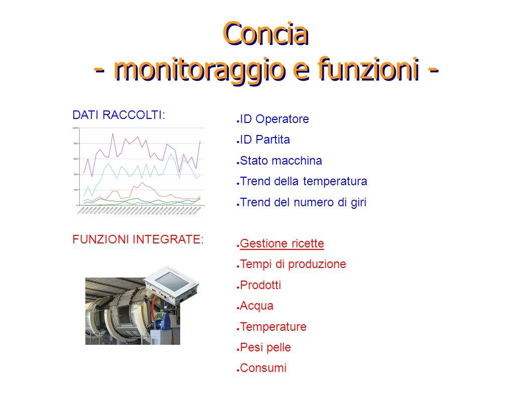 Concia - monitoraggio e funzioni -