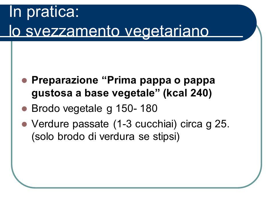 In pratica: lo svezzamento vegetariano