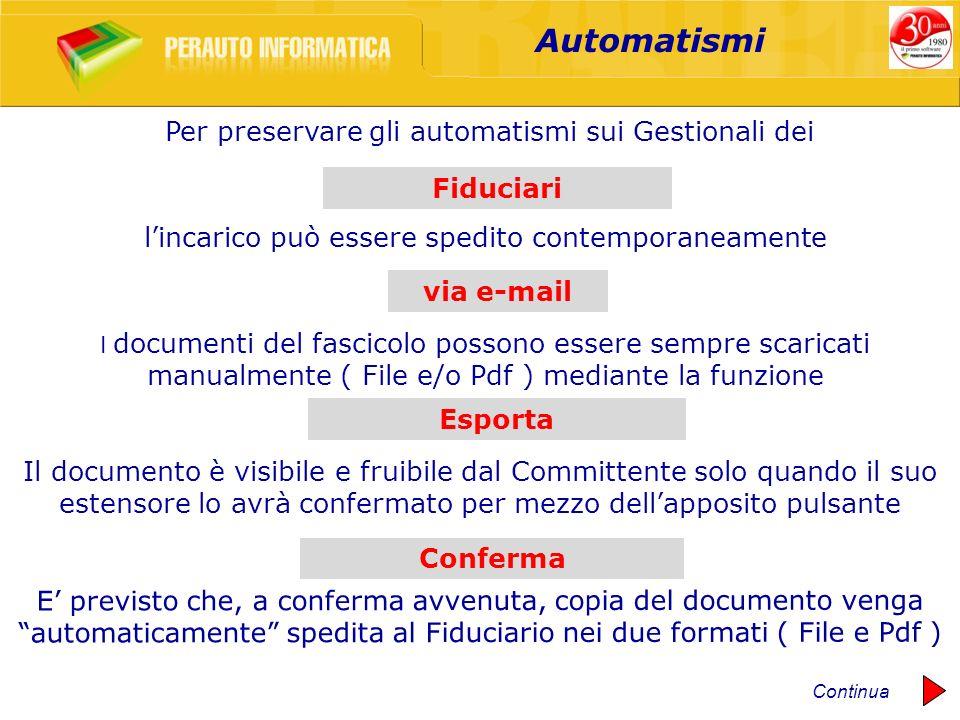 Automatismi Per preservare gli automatismi sui Gestionali dei
