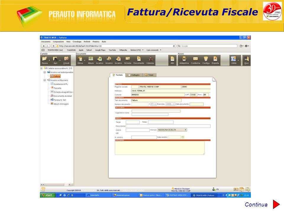 Fattura/Ricevuta Fiscale