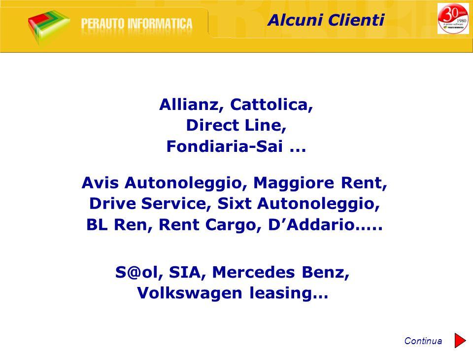 Avis Autonoleggio, Maggiore Rent, Drive Service, Sixt Autonoleggio,