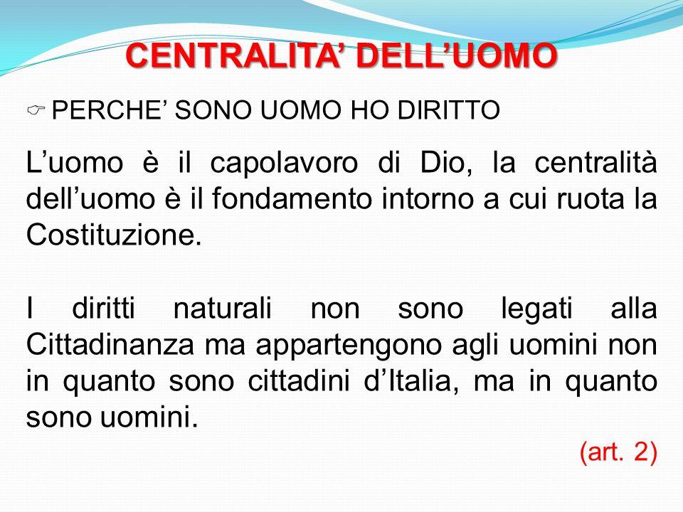 CENTRALITA' DELL'UOMO