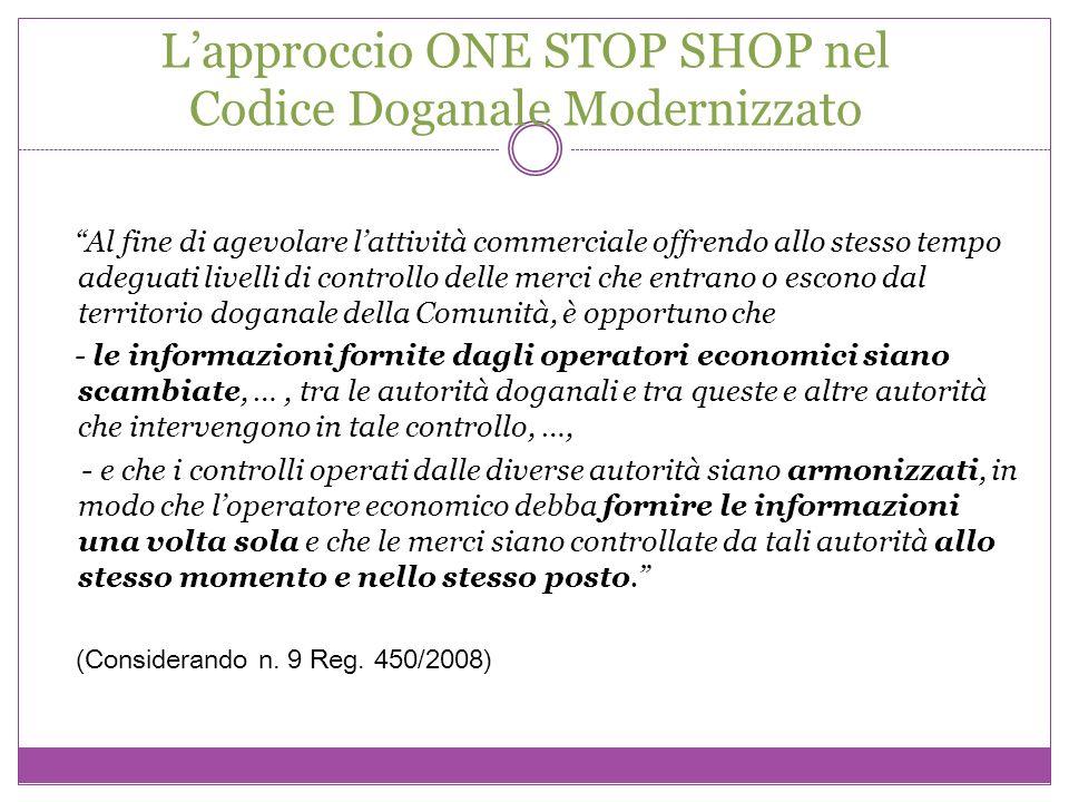 L'approccio ONE STOP SHOP nel Codice Doganale Modernizzato
