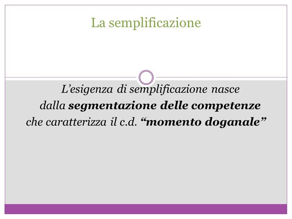 La semplificazione dalla segmentazione delle competenze