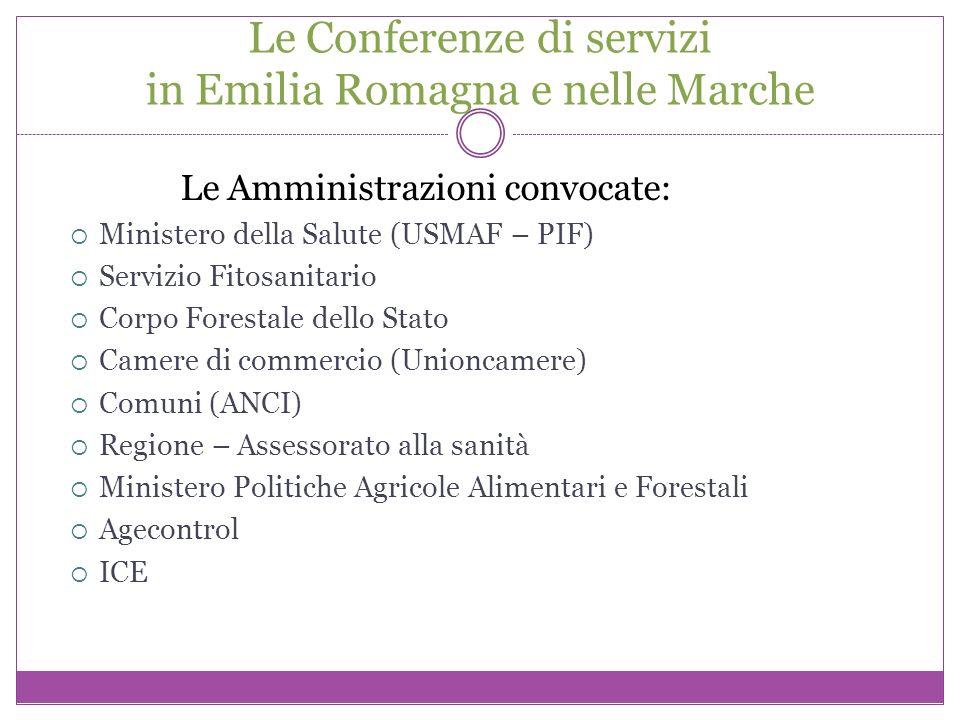 Le Conferenze di servizi in Emilia Romagna e nelle Marche