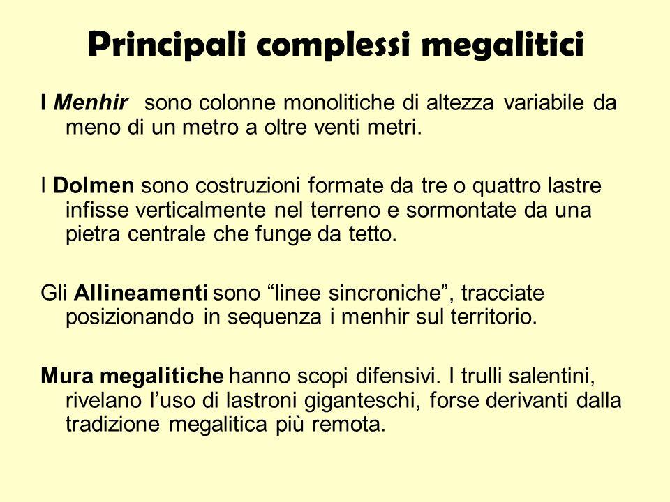 Principali complessi megalitici