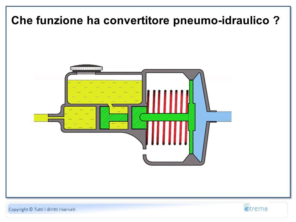 Che funzione ha convertitore pneumo-idraulico