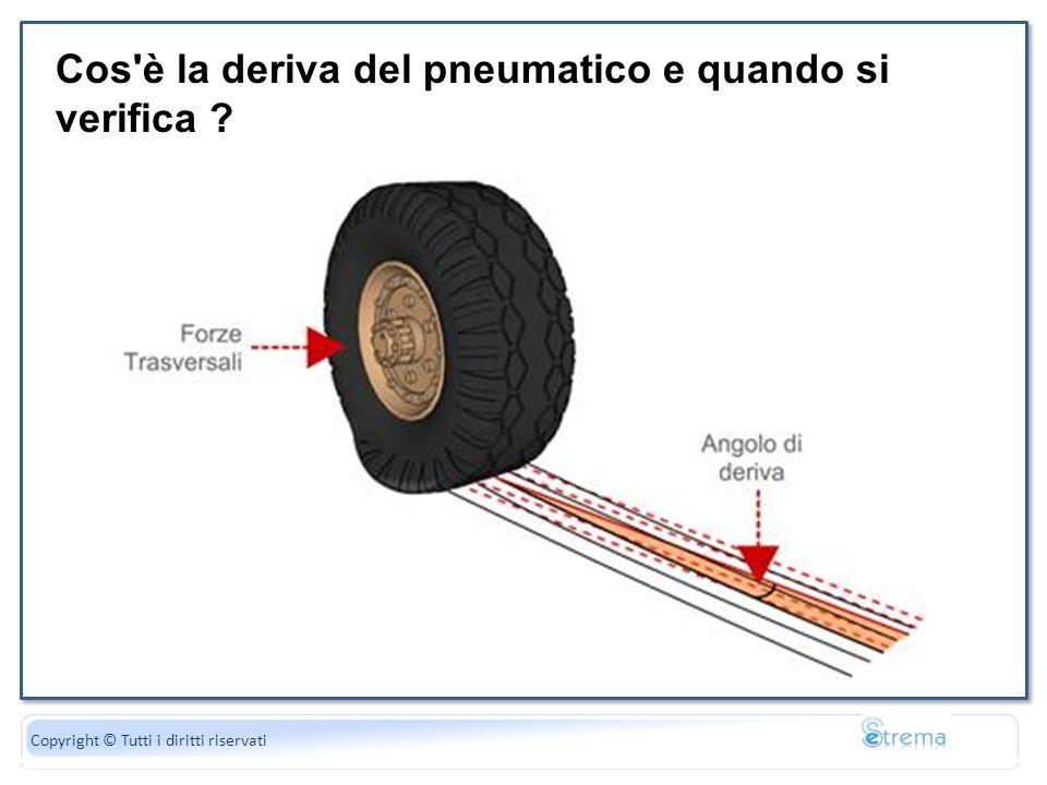 Cos è la deriva del pneumatico e quando si verifica
