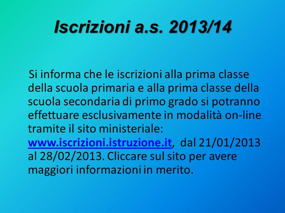 Iscrizioni a.s. 2013/14