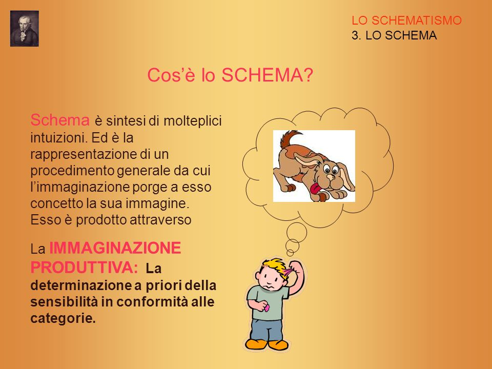 LO SCHEMATISMO 3. LO SCHEMA