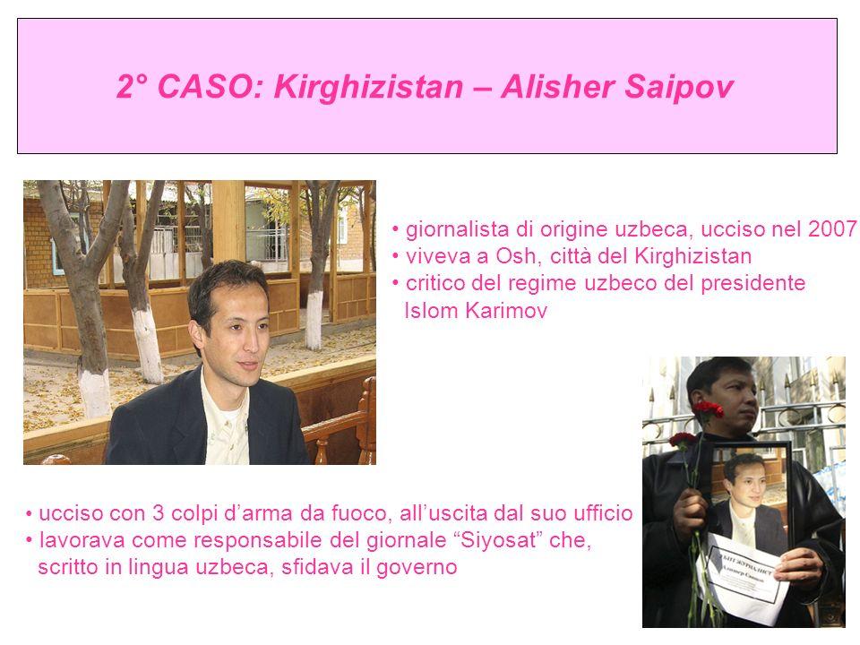 2° CASO: Kirghizistan – Alisher Saipov