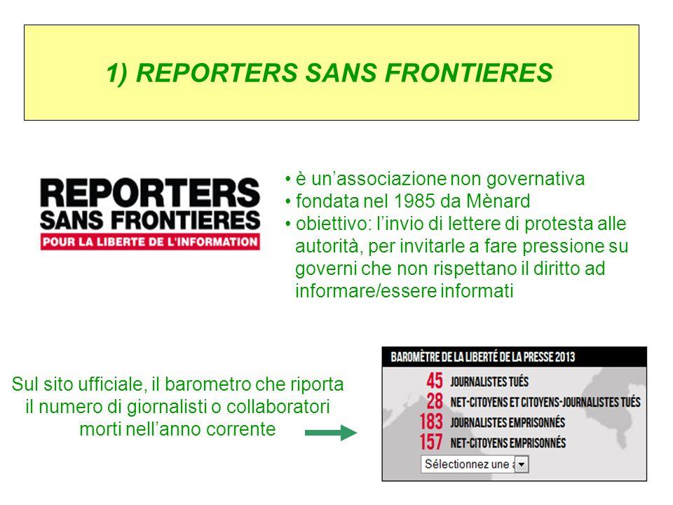 1) REPORTERS SANS FRONTIERES