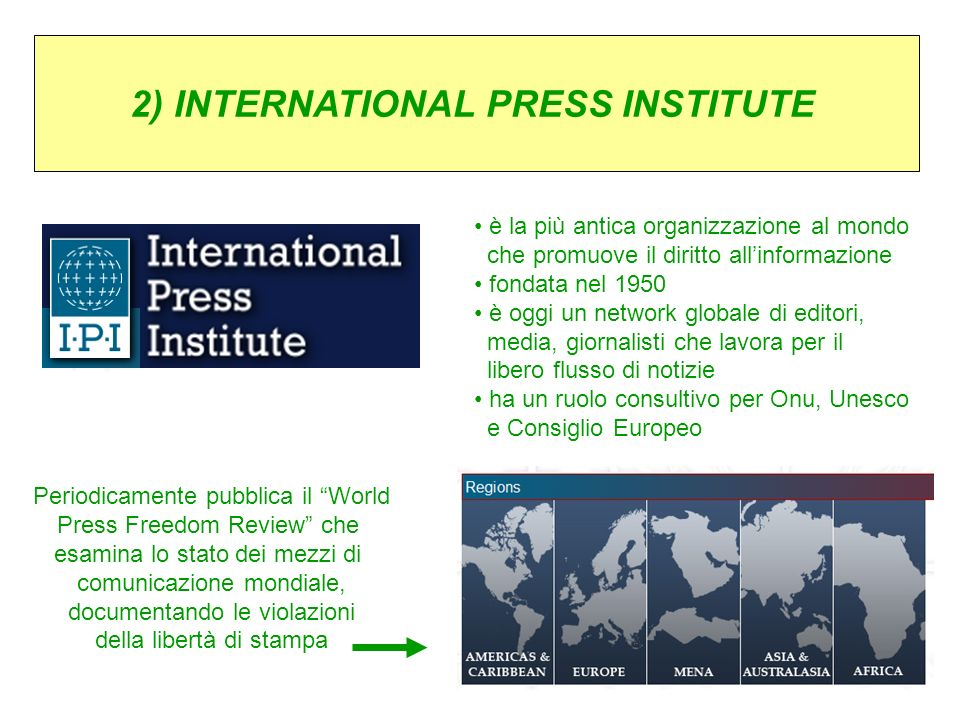 2) INTERNATIONAL PRESS INSTITUTE