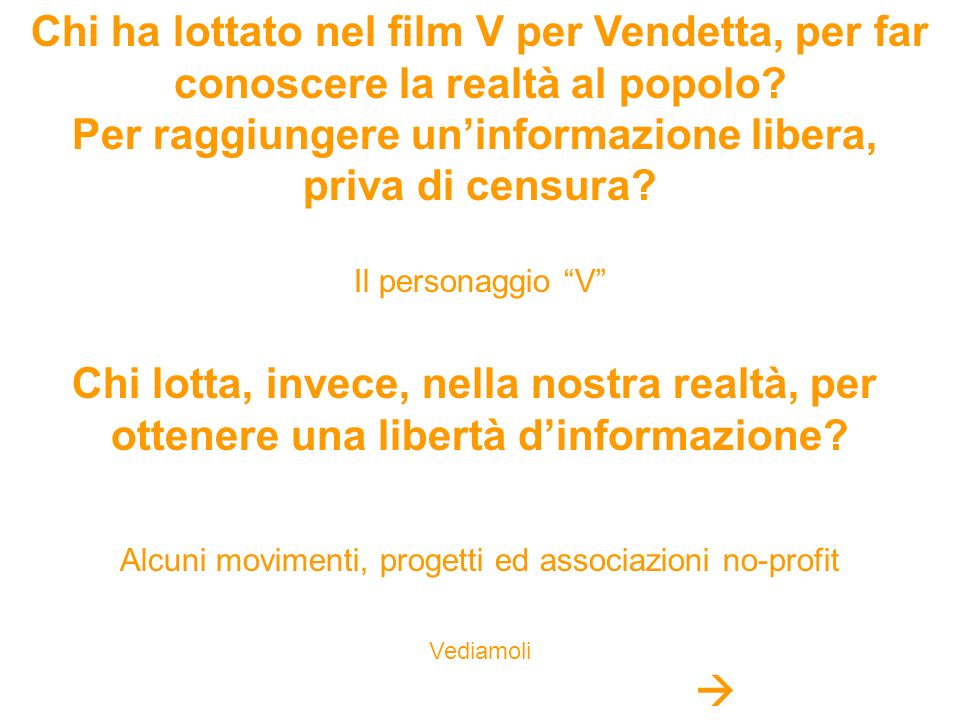 Chi ha lottato nel film V per Vendetta, per far