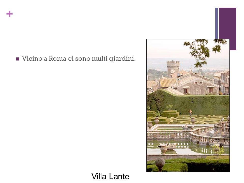 Villa Lante Vicino a Roma ci sono multi giardini.