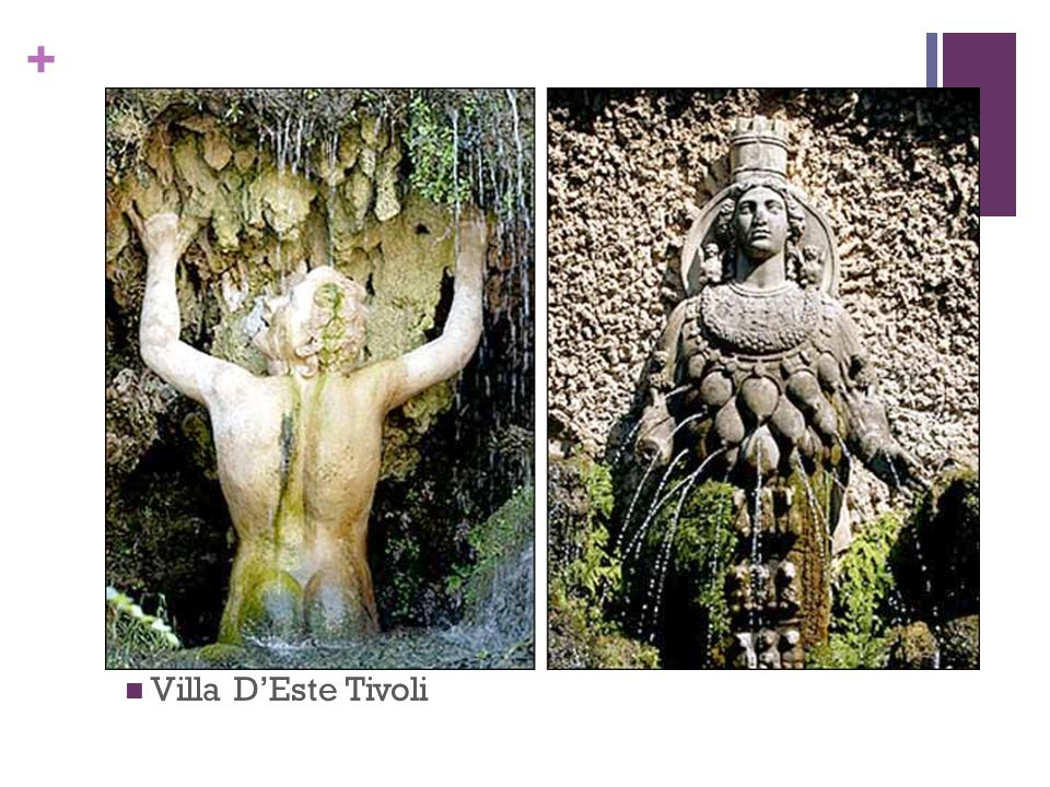 Two fountains Villa D'Este Tivoli