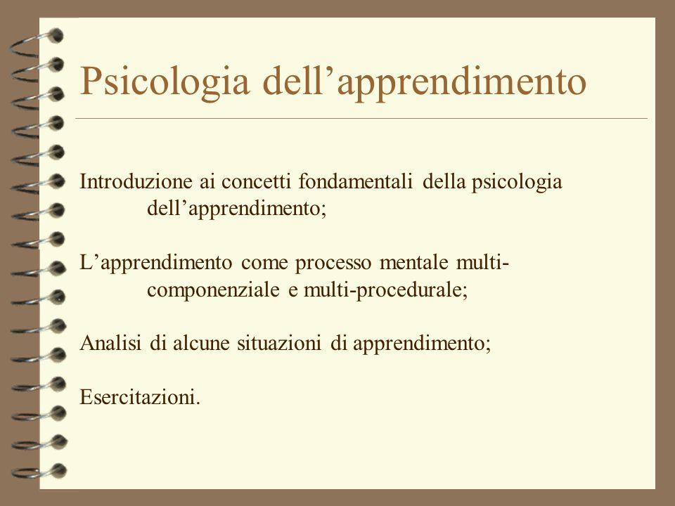 Psicologia dell'apprendimento