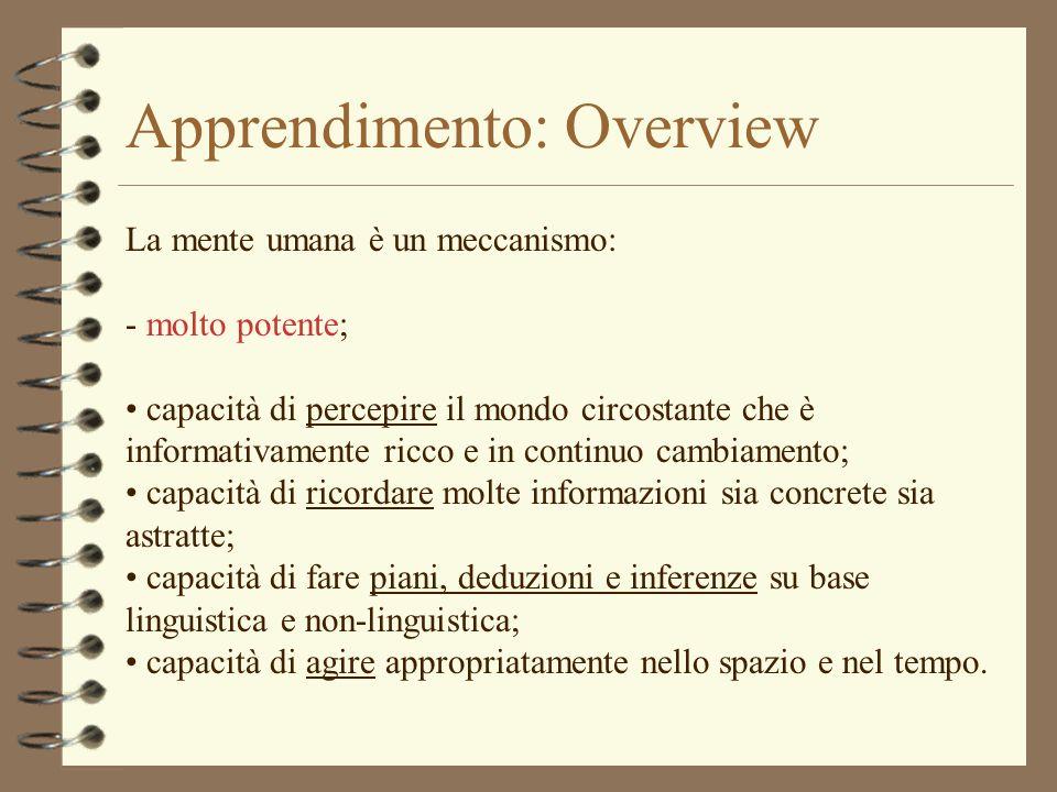 Apprendimento: Overview