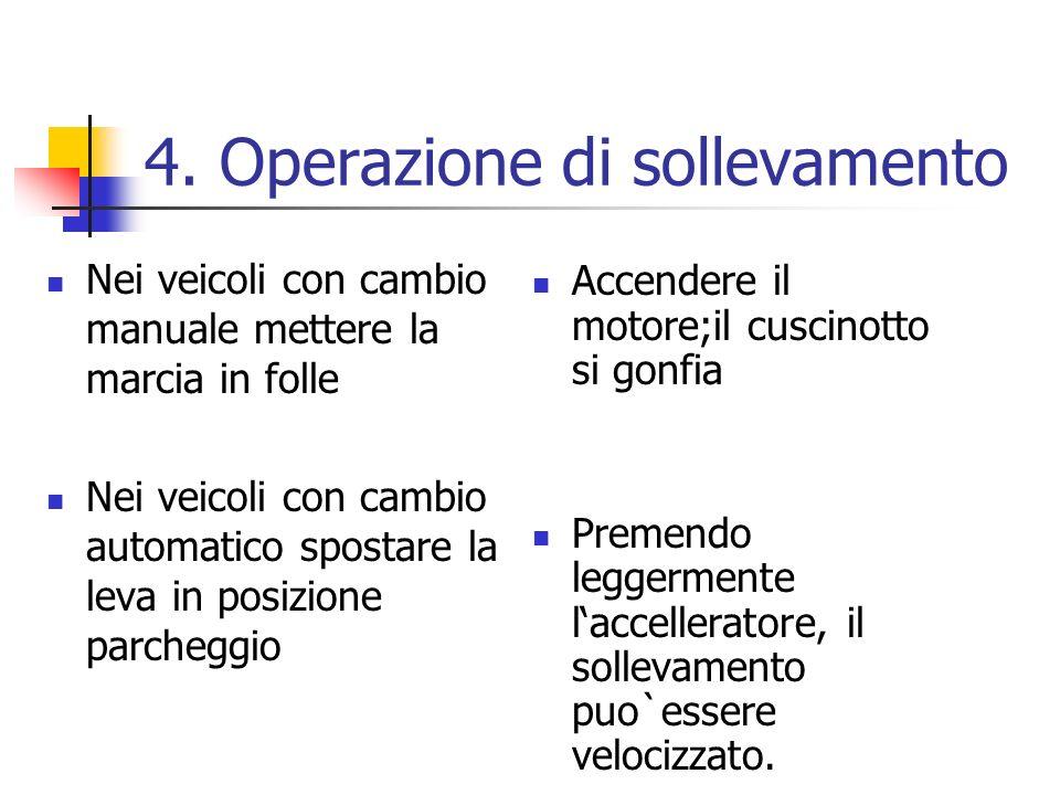 4. Operazione di sollevamento
