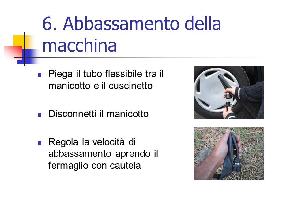 6. Abbassamento della macchina