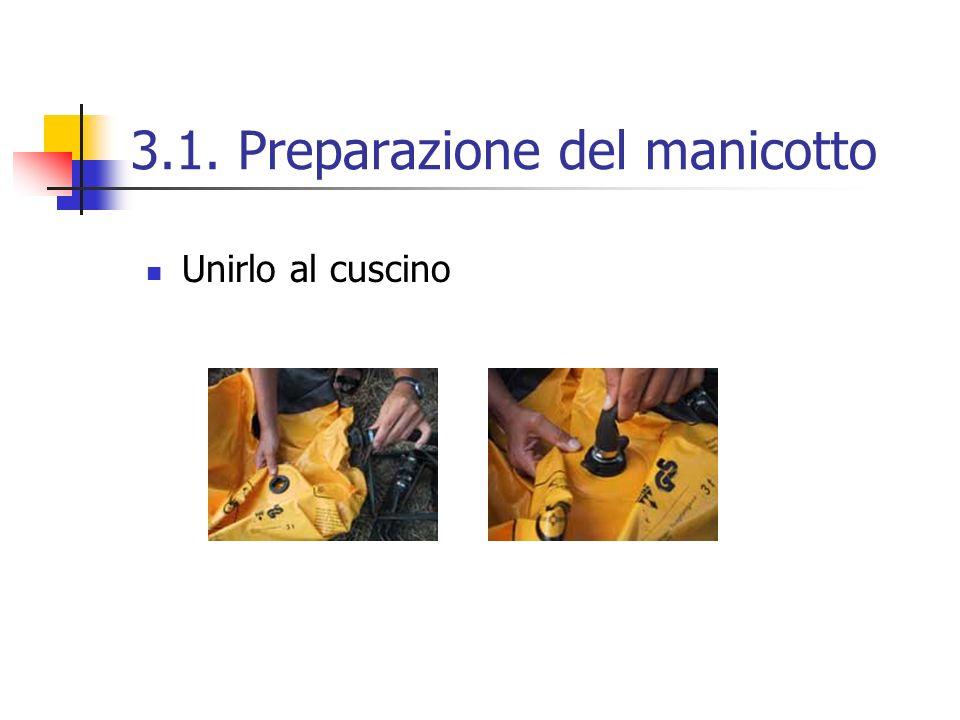 3.1. Preparazione del manicotto