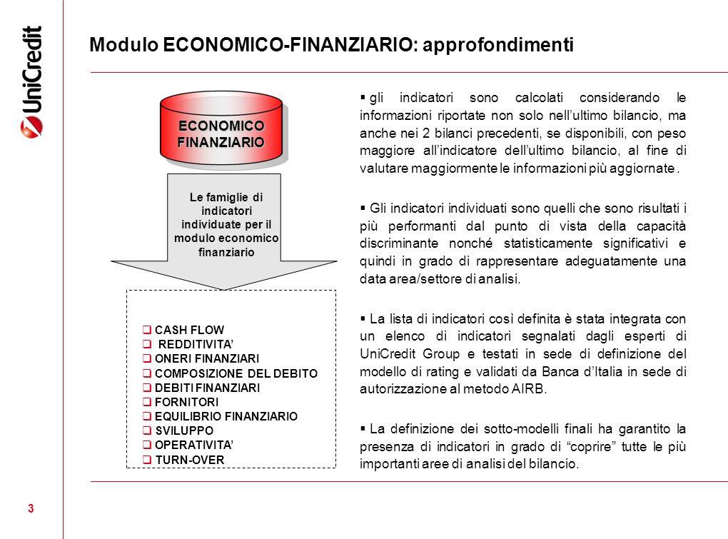 Modulo ECONOMICO-FINANZIARIO: approfondimenti